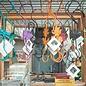 "Garden Hook 12"" Multi Colors Asst Designs Metal"