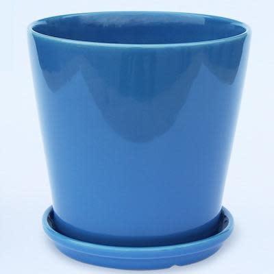 Pot Round Taper w/Saucer Lrg 6x6 Asst