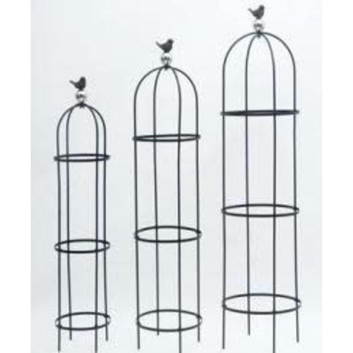 Trellis/Obelisk Bird on Globe Lrg 14x60 Metal