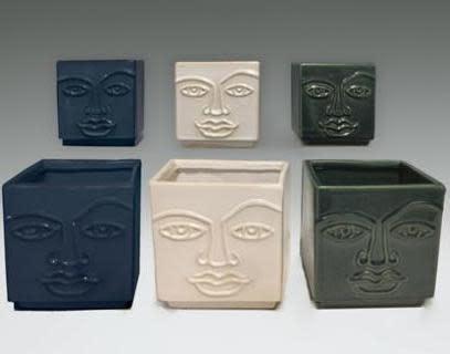 Pot Square Face Man Sml 4x4 Asst