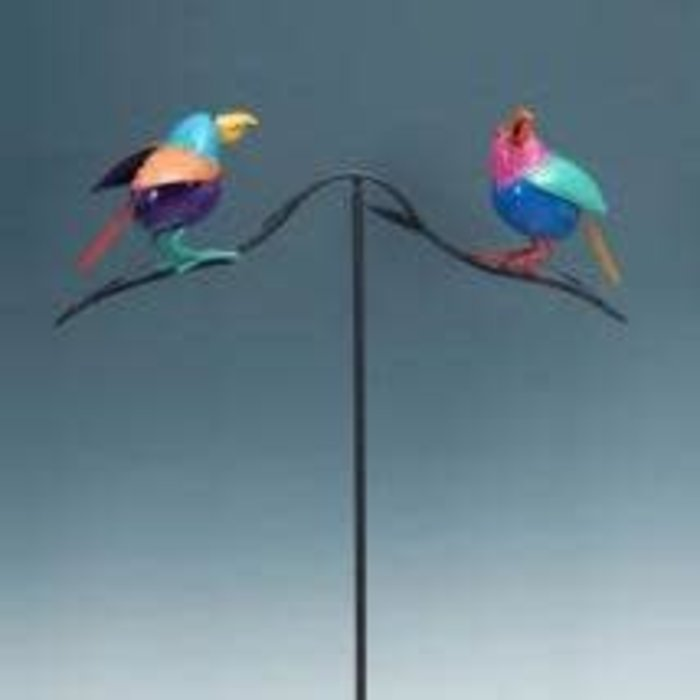 "Wind Spinner / Stake Birds Metal 54""H"