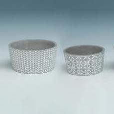 Pot Short Taper Lrg 7x3 Asst Decor Cement