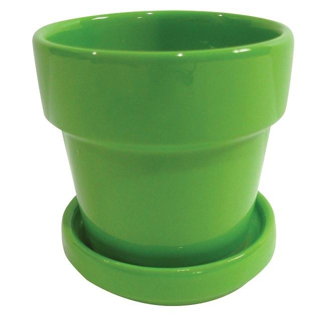 Pot Bright Standard Pot w/Saucer 3x2.5 Asst