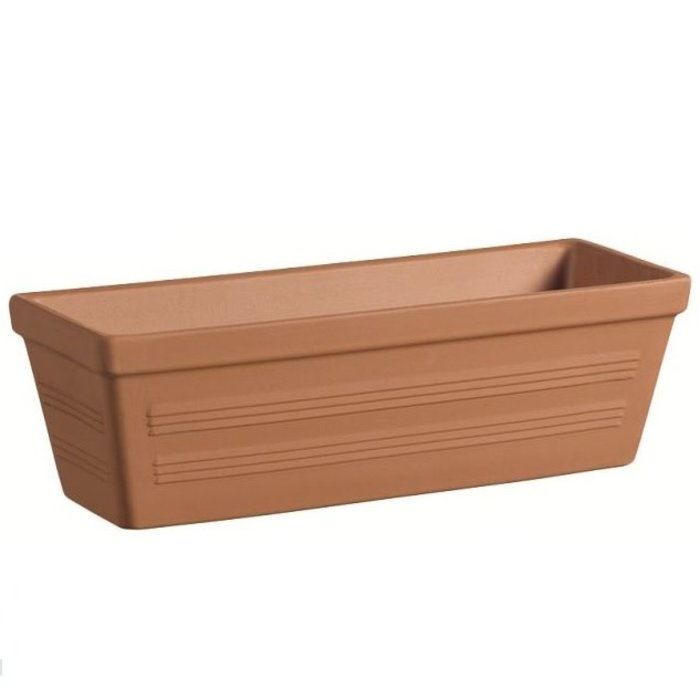 Window Box Lined 20X7X7 Terracotta