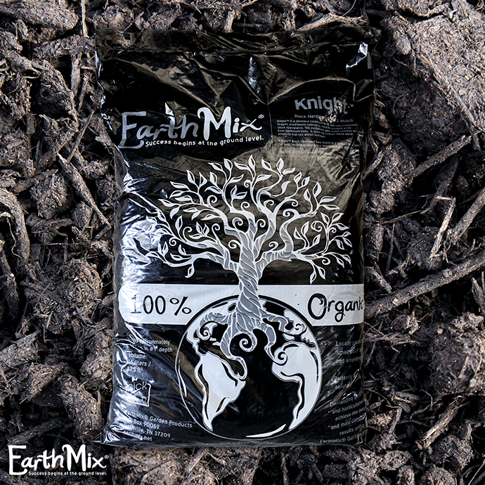 Bag 36L/1.25 Cuft EarthMix® Knight™ Black Hardwood Mulch