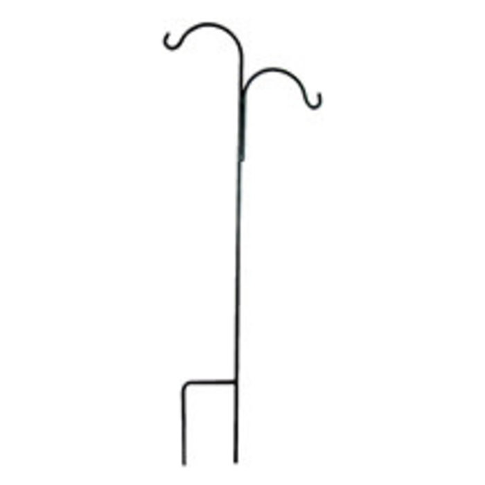 "Crane/Shepherd Hook Tall Double Off-Set 7'4"" Black Metal 1/2"" Thick"