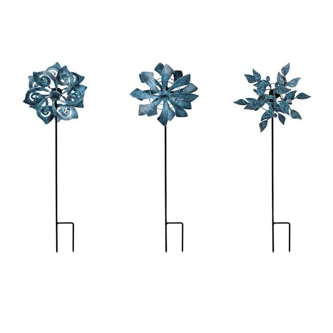 "Wind Spinner / Garden Stake Mini Natural Asst 18""H"