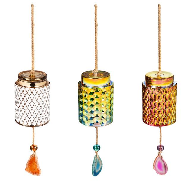 Wind Chime / Garden Bell Agate Asst Glass