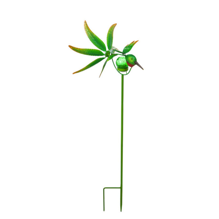 "Wind Spinner / Garden Stake Hummingbird Solar 36""H"