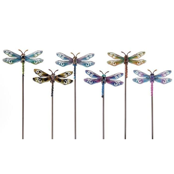 "Plant Pick / Garden Stake Dragonfly Asst 22""H"