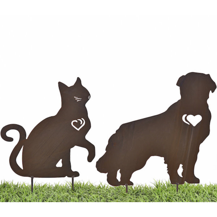 Garden Stake Cat/Dog Memorial  Iron