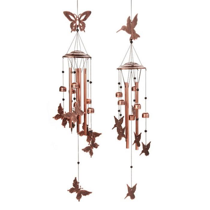 """Wind Chime / Garden Bell Btrfly/HBird 35""""H Asst Metal"""
