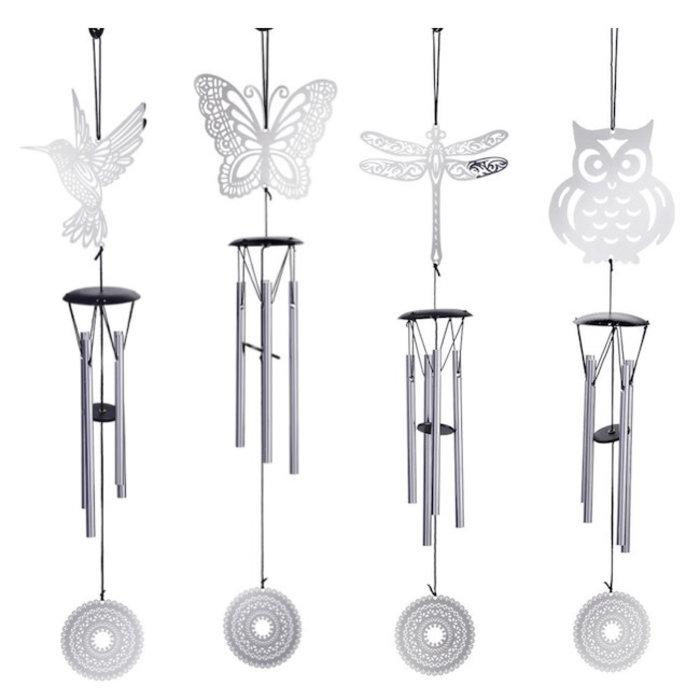 Wind Chime Owl/Btrfly/Drgfly/etc. Asst Silver