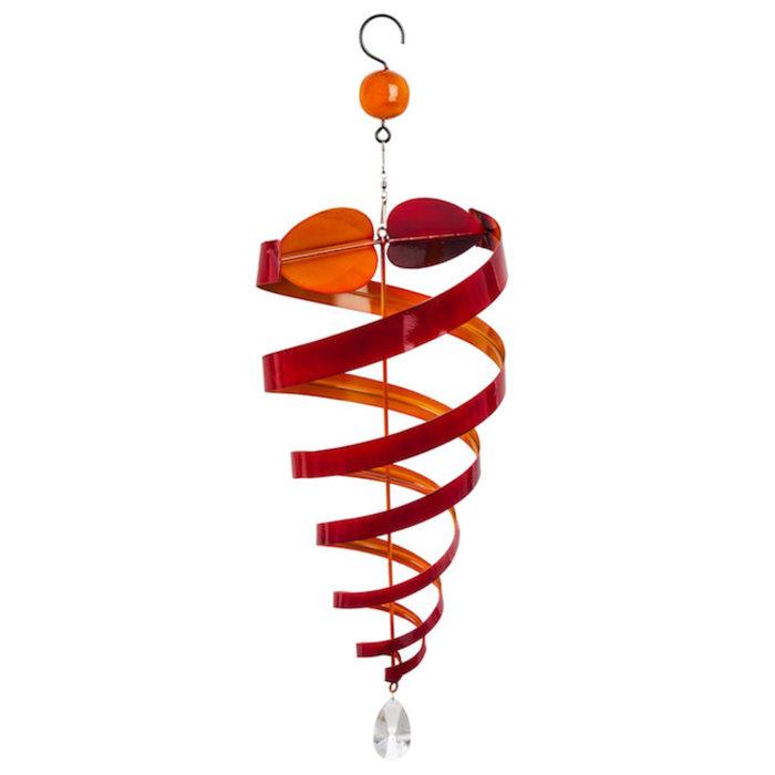 Hanging Wind Twirler Swirl Yellow/Orange