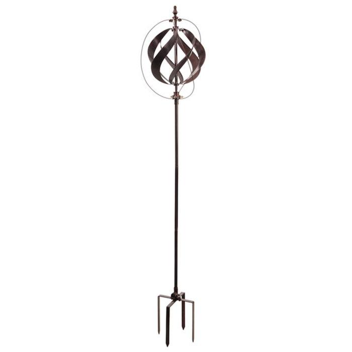 "Wind Spinner Misting Copper Sphere 85""H"