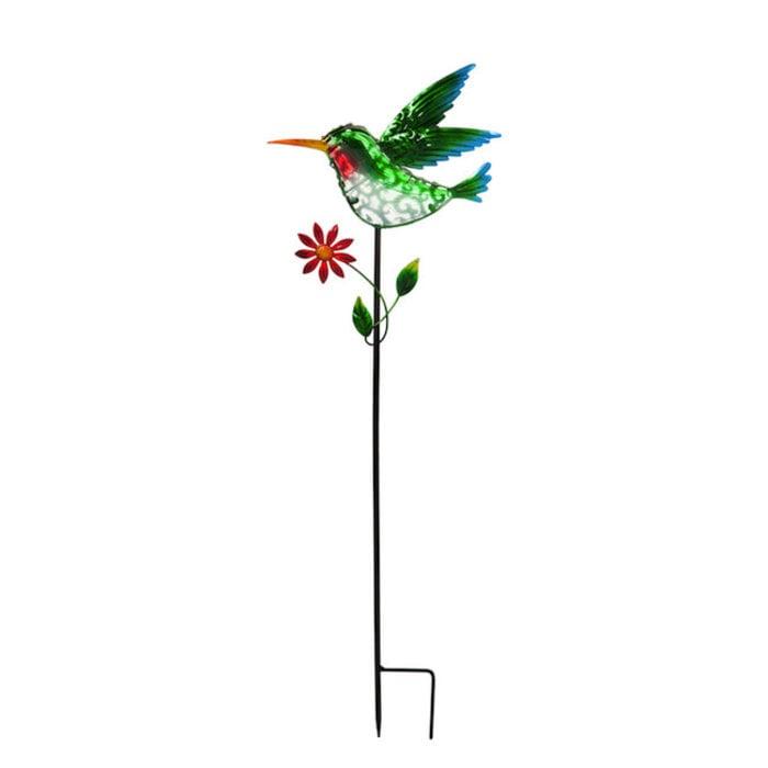 """Garden Stake Hummingbird Solar 36""""H"""