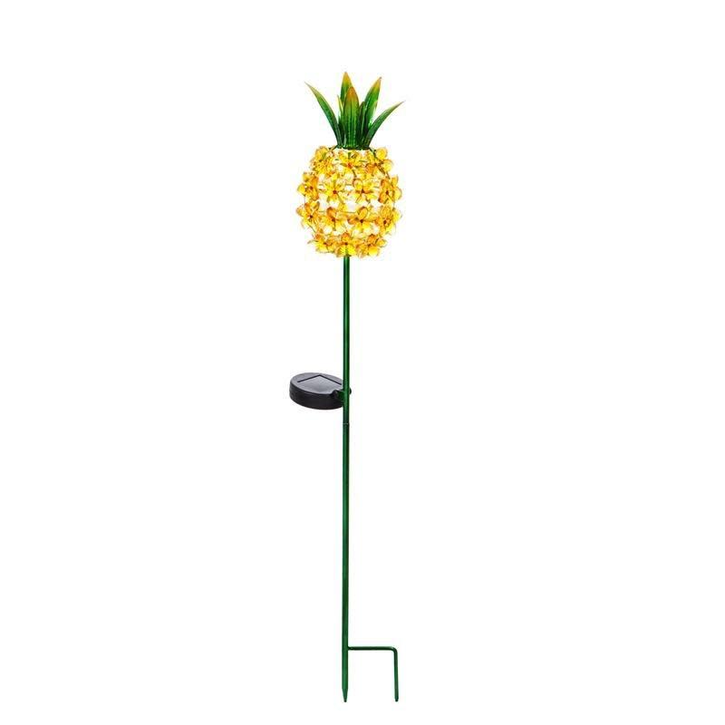 """Garden Stake Pineapple Solar 33""""h"""