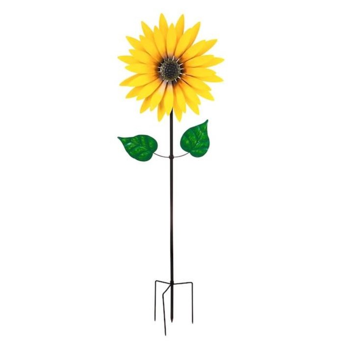 "Wind Spinner / Garden Stake Statement Sunflower 75""H"