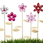 "Plant Pick / Garden Stake / Suncatcher Flower Asst Crystal/Metal 12""H"