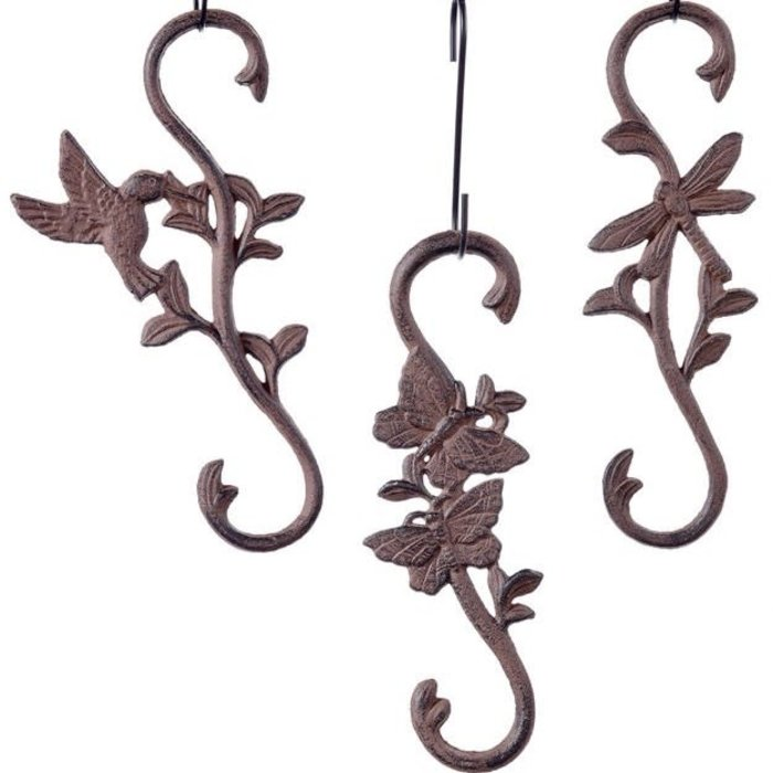 Cast Iron S-Hook Rustic Assorted Styles