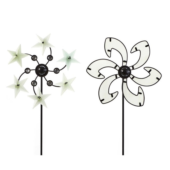 Wind Spinner / Garden Stake Pinwheel Glow-in-the-Dark Asst