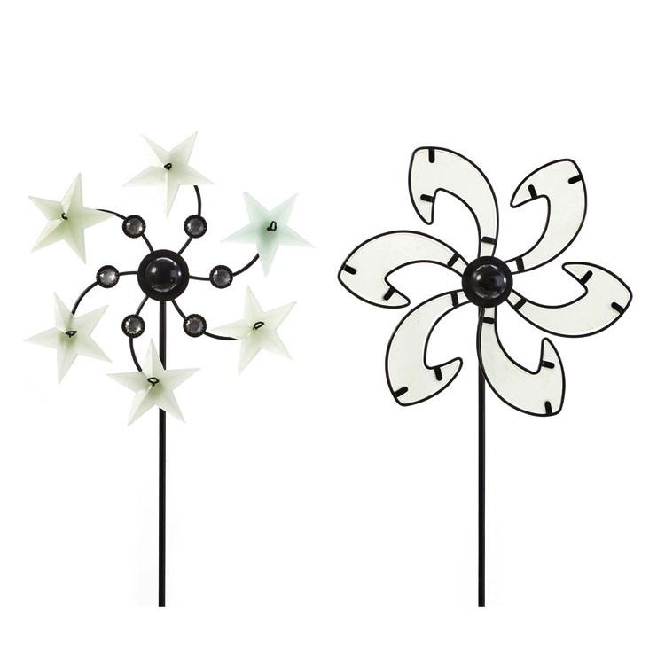 Wind Spinner / Garden Stake Pinwheel Glow-in-the-Dark Asst