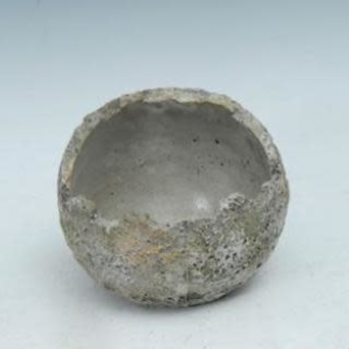 Pot Dinosaur Egg Round Sphere 7x6 Cement