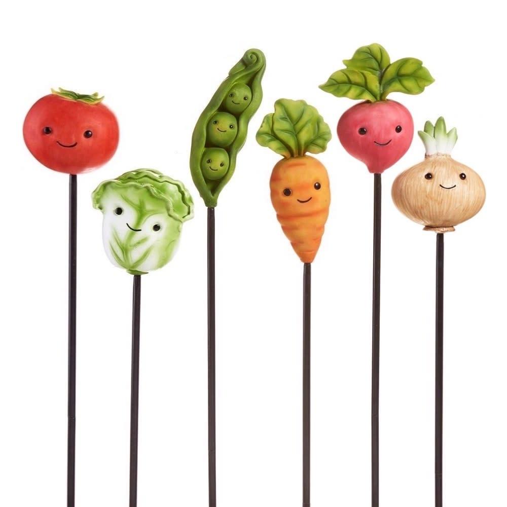 Plant Pick / Garden Stake Vegetable Asst Resin