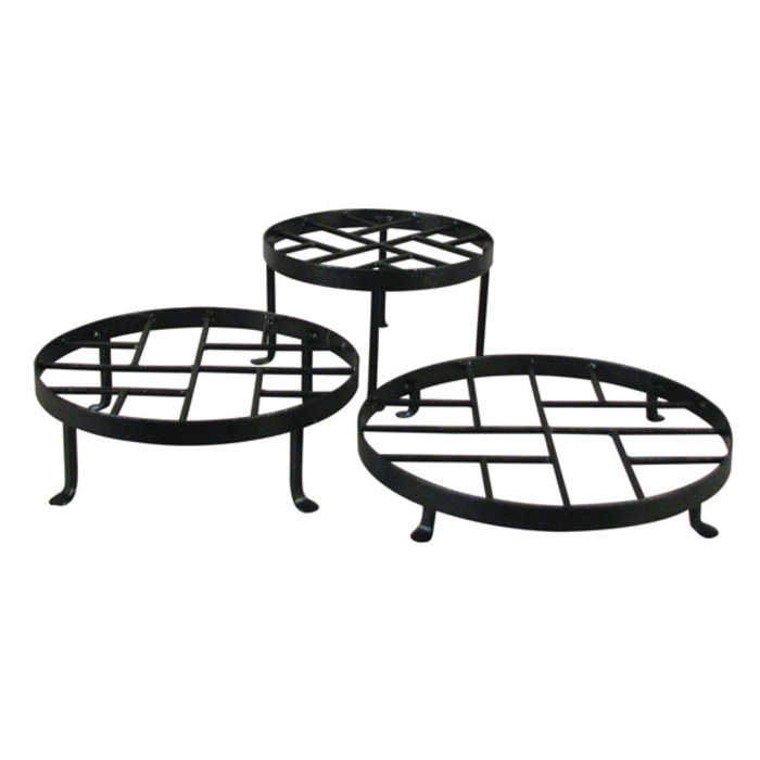 Plant Stand Chippendale Sml 10x6 Black Metal