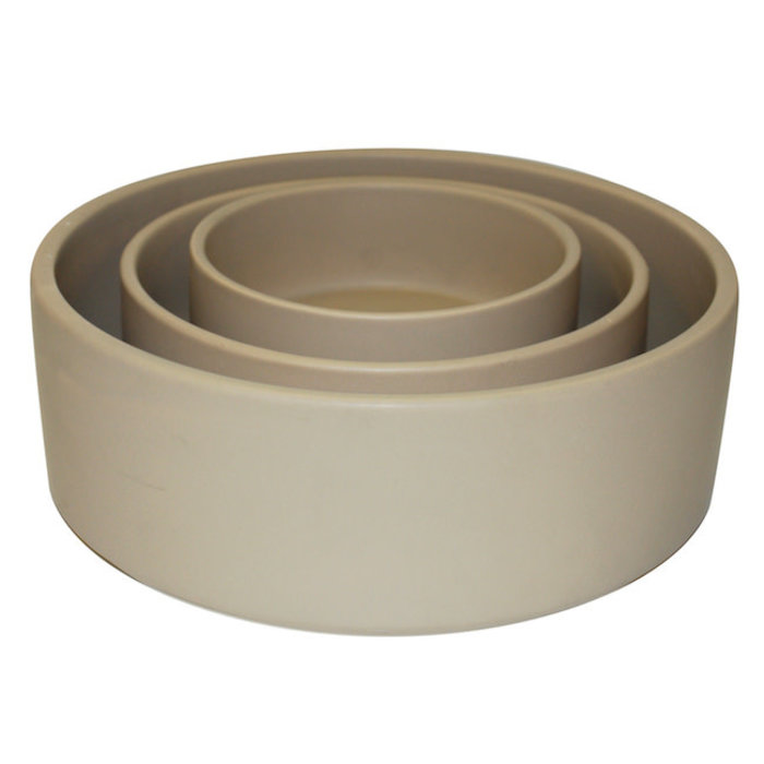 Pot /Bowl Straight Sided Lrg 10x3 Matte Tan