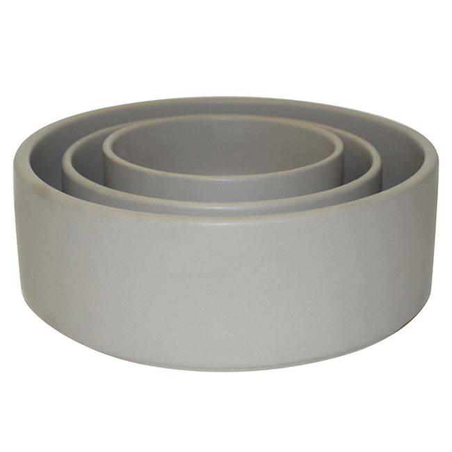 Pot/Bowl Straight Sided Lrg 10x3.5 Matte Gray