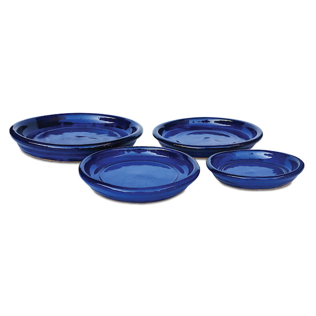 "Saucer 8-9"" (9+) Glazed Sml Asst Colors"