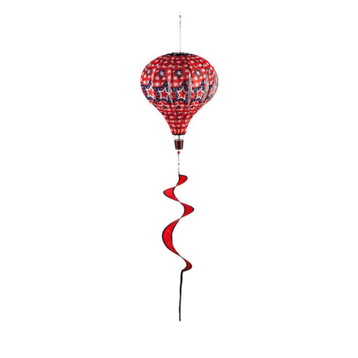 Balloon Spinner SOLAR Stars and Plaid