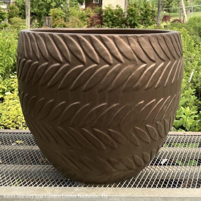 Pot Central Park Feather Egg/Cup/Rd Pot Lrg 17x14 Asst