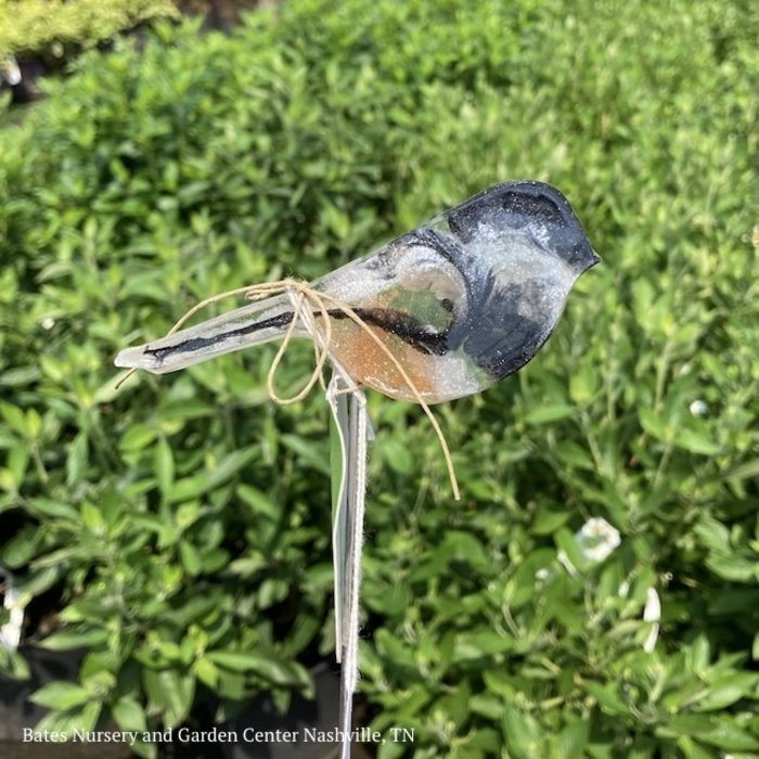 """Garden Stake Sml Chickadee Hand Crafted 12""""h Resin"""