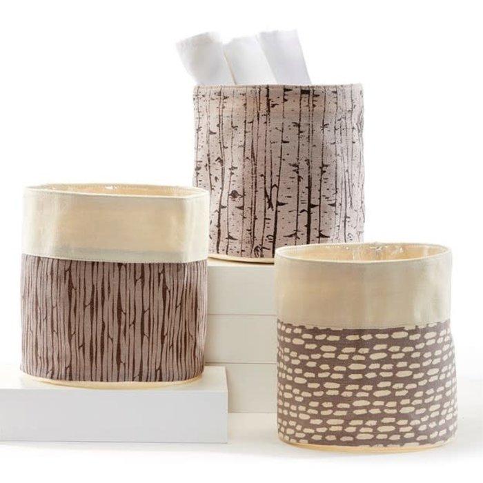"Pot Fabric  Storage Planter w/Liner 7"" Asst Brown"