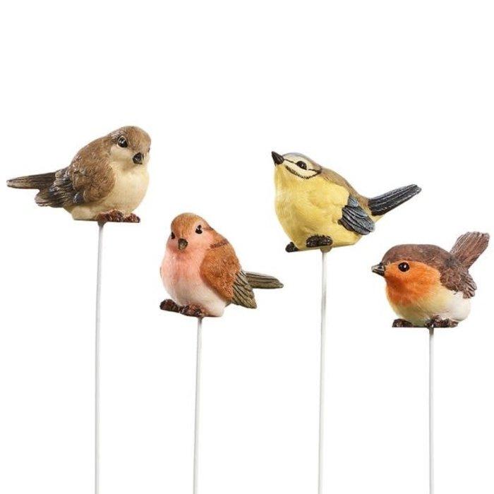 """Plant Pick / Garden Stake Bird Asst 9""""H"""