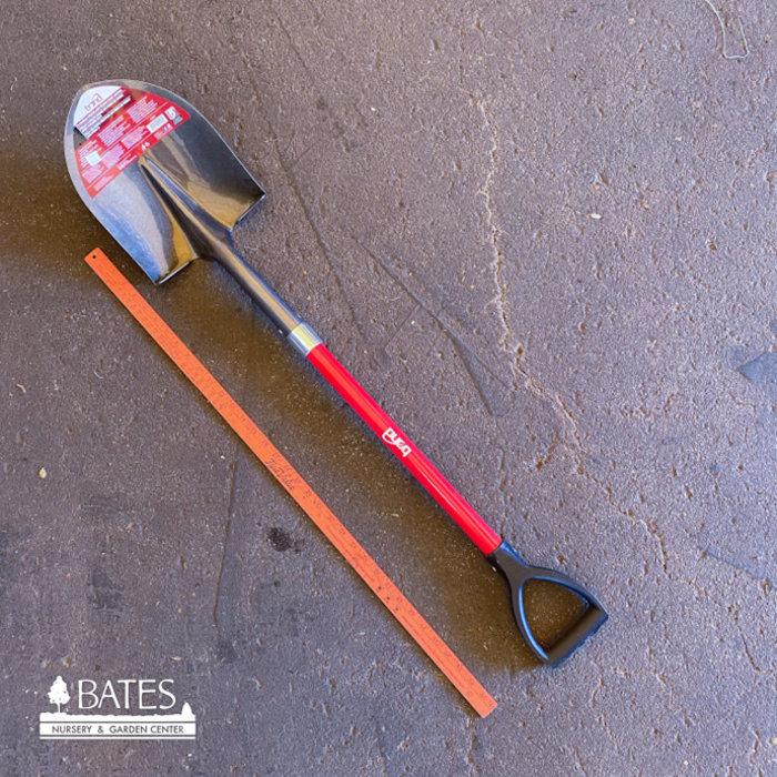 Shovel Round Point Fiberglass w/D-Handle Bond