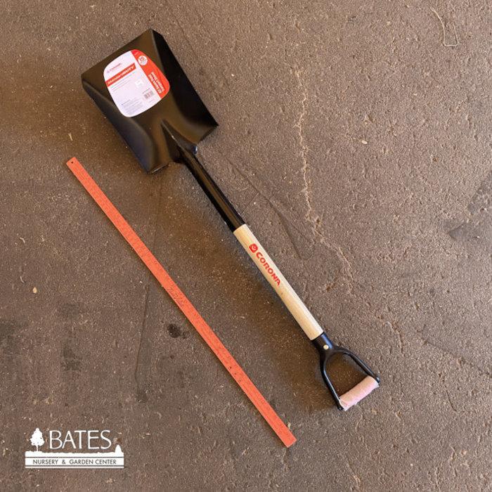 """Corona Shovel #2 Square 30"""" Ash Wood D-Handle"""