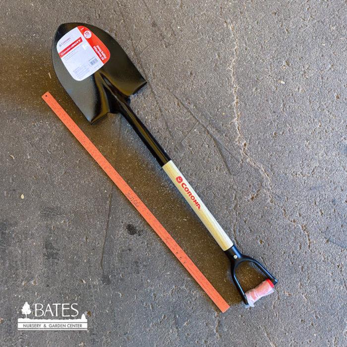 "Corona Shovel #2 Round Point Wood w/D-Handle 30"""