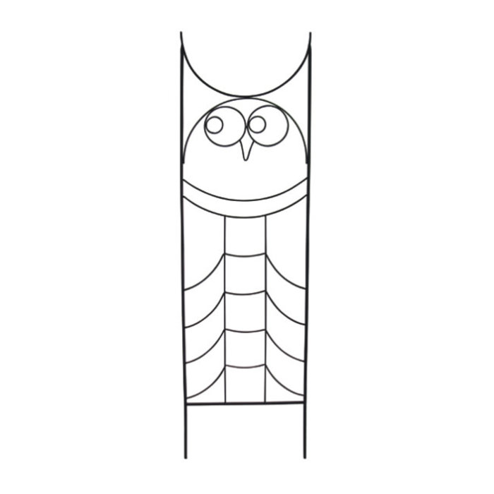 Trellis Owl 24x84 Black Metal