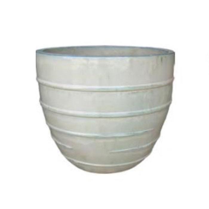 Pot Thames Multi-Ringed Xlg 22x19  Asst