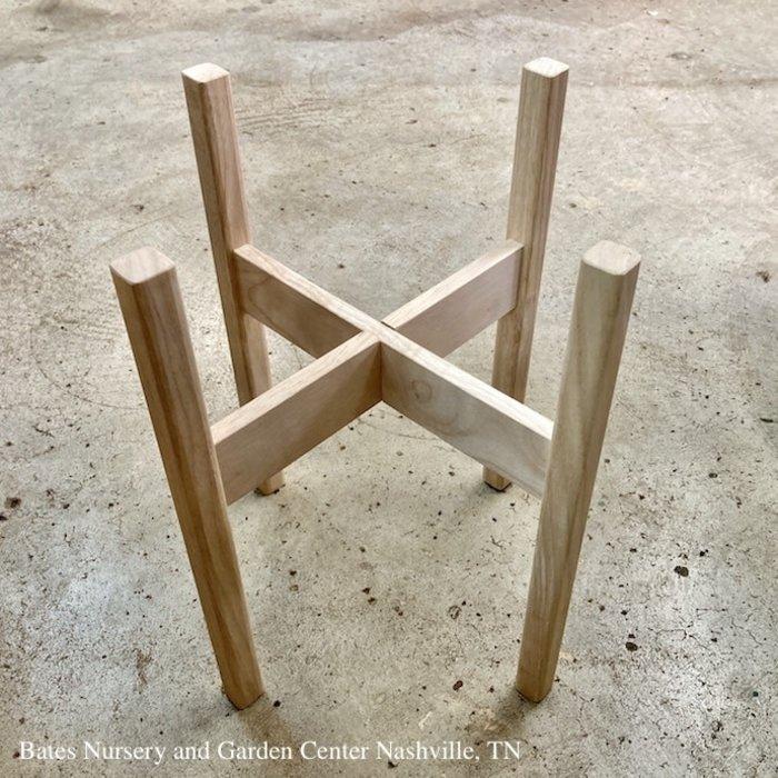 "Plant Stand /Pot Stand Rubber Wood Lrg 17x17 (fits 15"" pot)"
