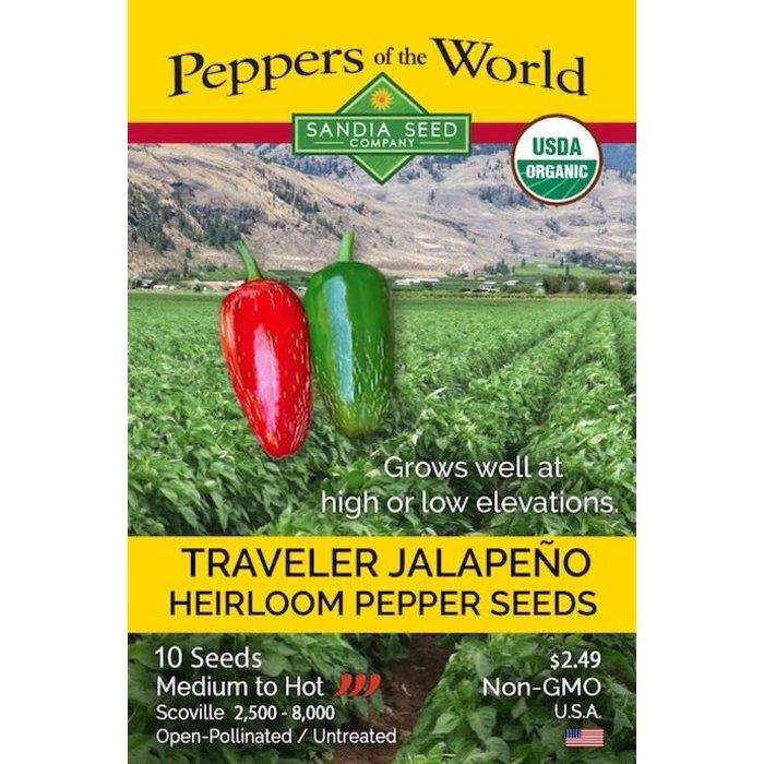 Seed Pepper Jalapeno Traveler Heirloom Organic - Capsicum annuum