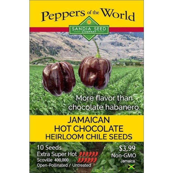 Seed Pepper Habanero Jamaican Hot Chocolate Heirloom - Capsicum chinense