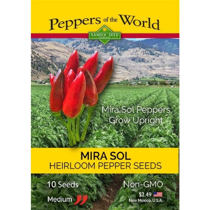 Seed Pepper Mirasol New Mexico Heirloom - Capsicum annuum