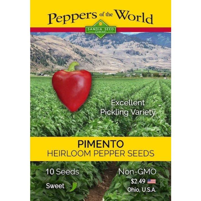 Seed Pepper Sweet Pimento Heirloom - Capsicum annuum