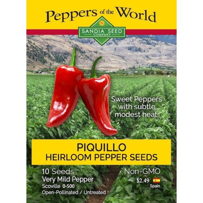 Seed Pepper Sweet/Mild Piquillo Spanish - Capsicum annuum
