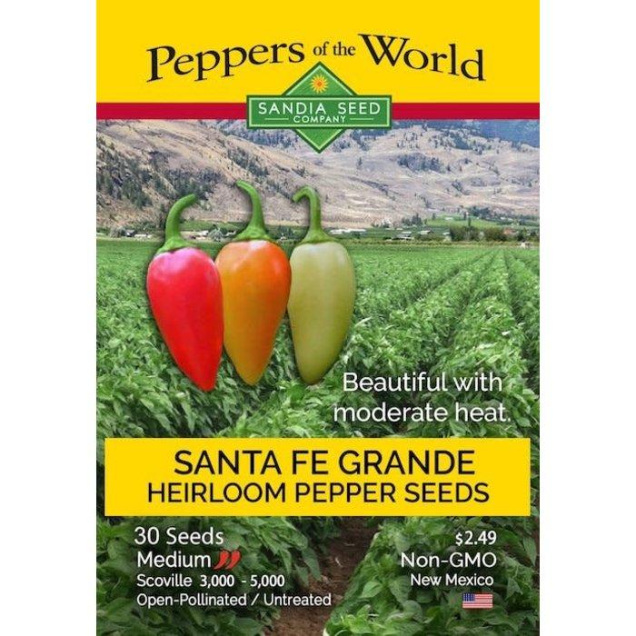 Seed Pepper Santa Fe Grande Heirloom - Capsicum annuum