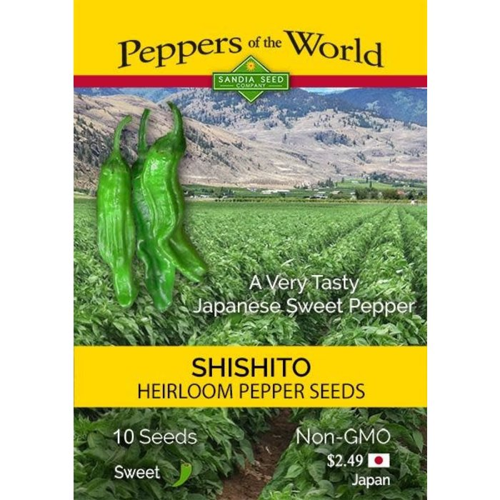 Seed Pepper Sweet Shishito Heirloom - Capsicum annuum